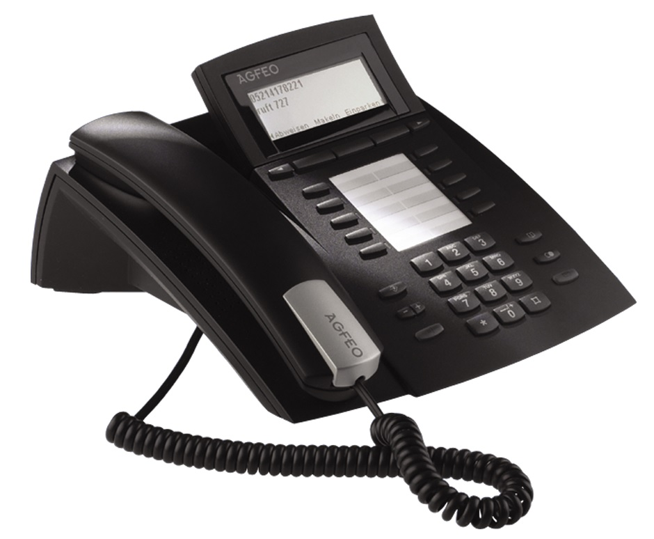 Bild AGFEO Systemtelefon ST 42 AB in schwarz