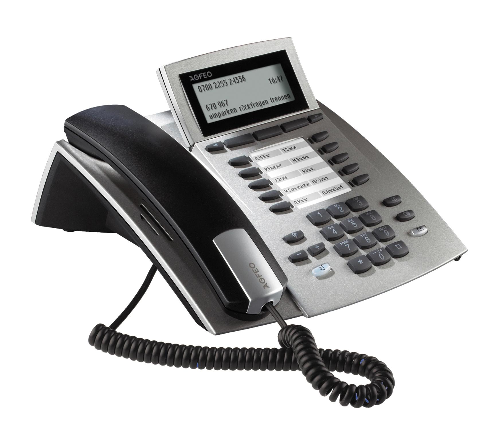 Bild AGFEO Systemtelefon ST 42 AB in silber