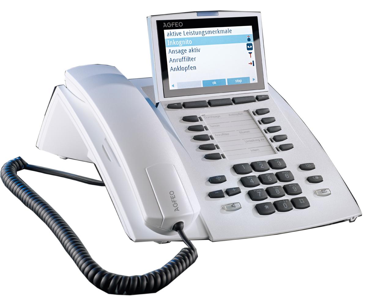Bild AGFEO Systemtelefon ST 45 AB in reinweiss