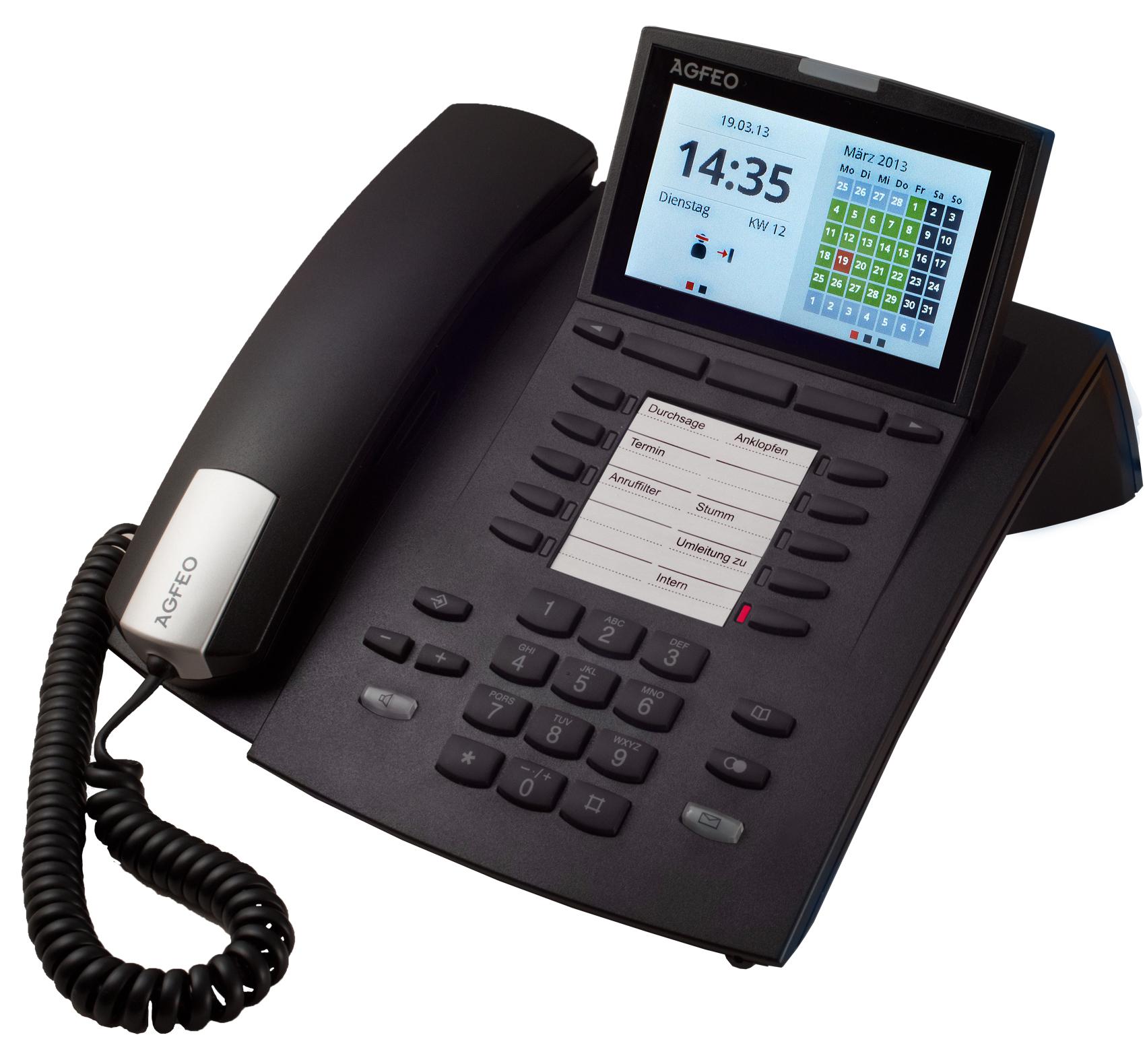 Bild AGFEO Systemtelefon ST 45 AB in schwarz